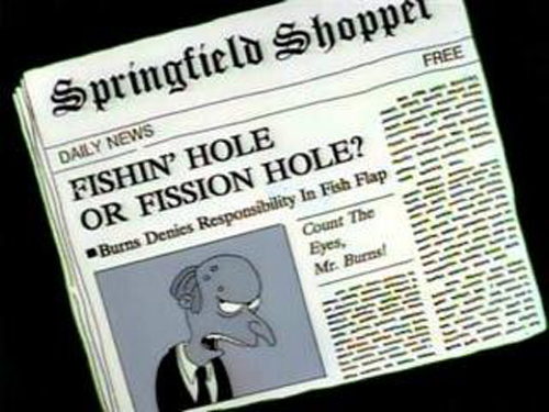 """FISHIN' HOLE OR FISSION HOLE? from """"Two Cars in Every Garage and Three Eyes on Every Fish,"""" season 2"""
