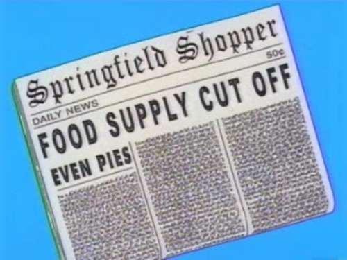 "FOOD SUPPLY CUT OFF, from ""Simpson Safari,"" season 12"