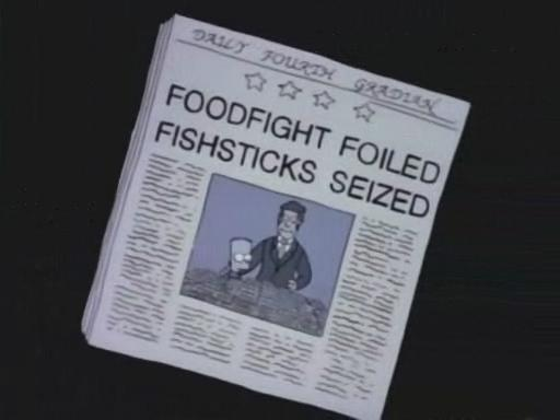 """FOODFIGHT FOILED FISHSTICKS SEIZED, from """"Separate Vocations,"""" season 3"""