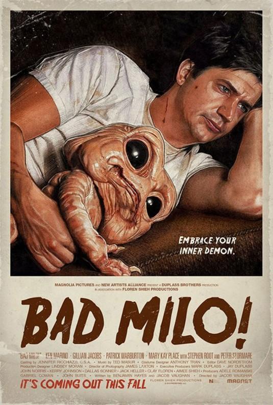 """Bad Milo"" starring Ken Marino movie poster"