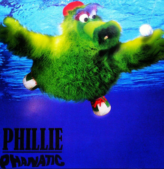 "Phillie Phanatic Nirvana ""Nevermind"" poster"