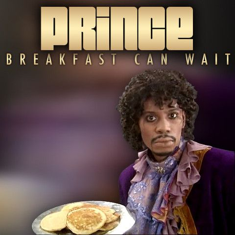 "Prince ""Breakfast Can Wait"" cover art featuring Dave Chappelle"