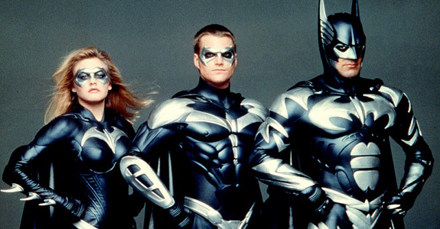 "Alicia Silverstone, Chris O'Donnell, and George Clooney in ""Batman & Robin"""