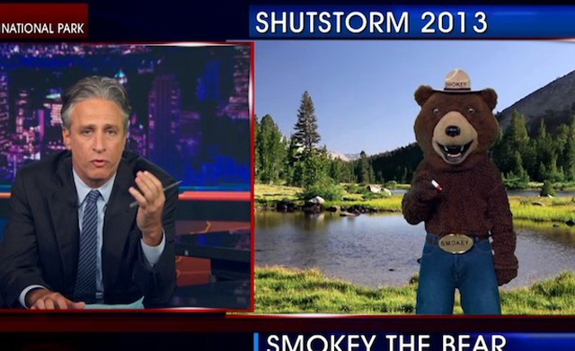"Smokey Bear on ""The Daily Show"""