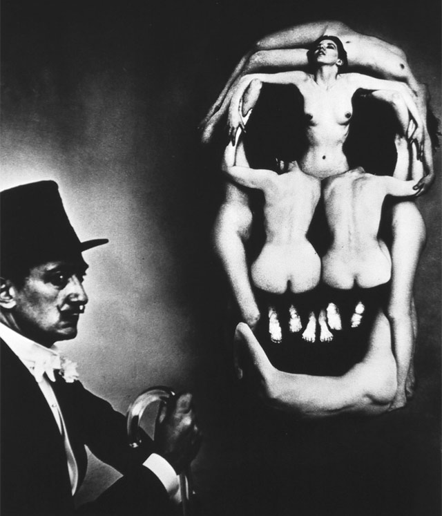 """In Voluptas Mors,"" photograph by Philippe Halsman (in collaboration with Salvador Dalí), 1951"