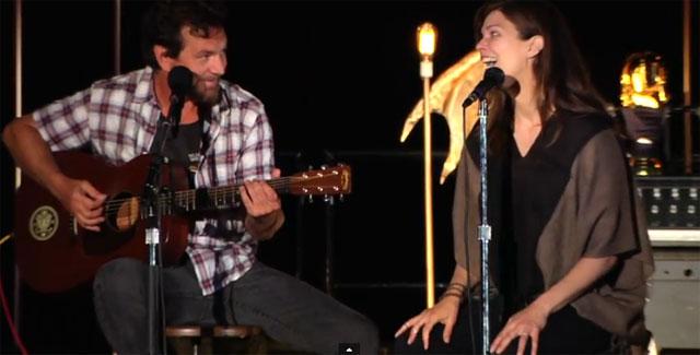 Watch Eddie Vedder And Jeanne Tripplehorn As Julie