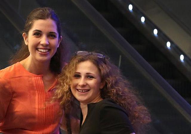 Nadya Tolokonnikova and Maria Alekhina of Pussy Riot