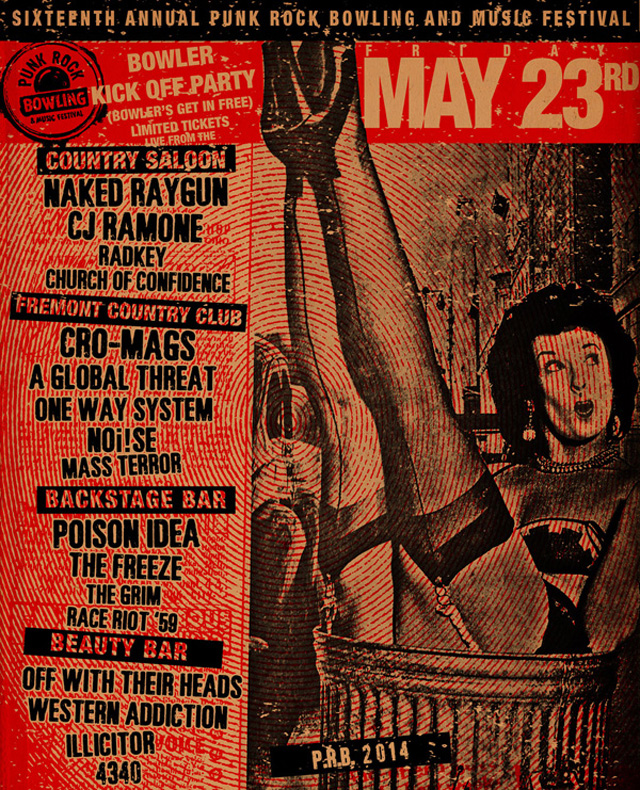 Punk Rock Bowling 2014 Club Shows for May 23rd