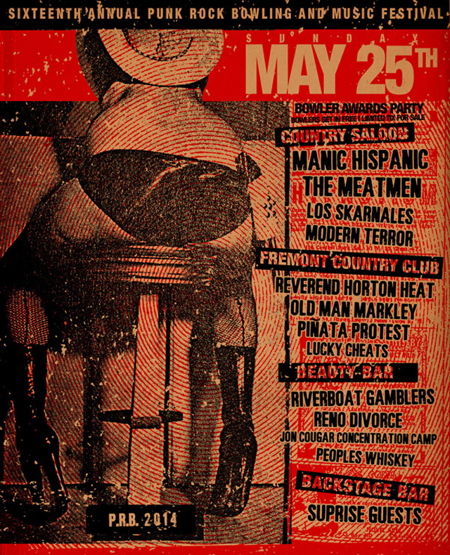 Punk Rock Bowling 2014 Club Shows for May 25th