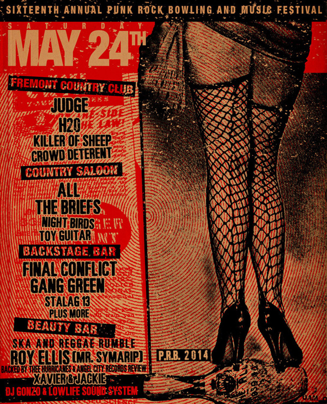 Punk Rock Bowling 2014 Club Shows for May 24th