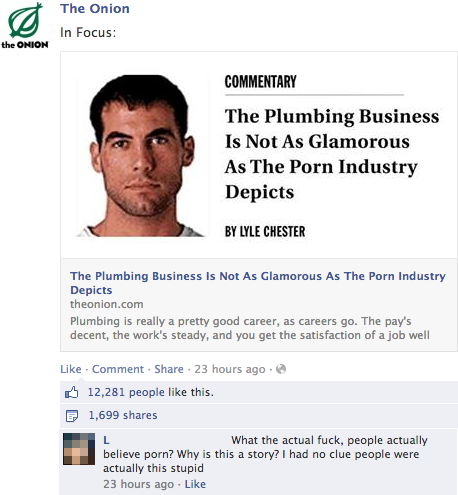 "Literally Unbelievable - Reactions to ""The Onion"" Stories"