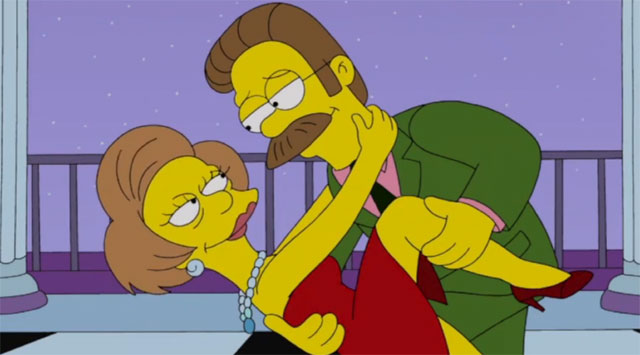 The Simpsons say goodbye to Edna Krabappel