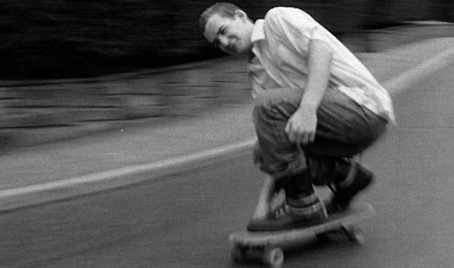 Ian MacKaye skating