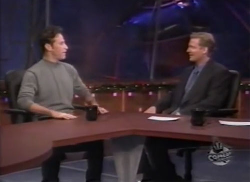 "Craig Kilborn interviews Jon Stewart on ""The Daily Show"""