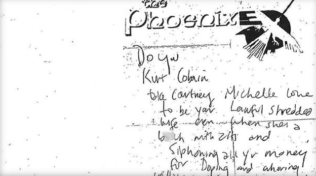 Kurt Cobain's other suicide note