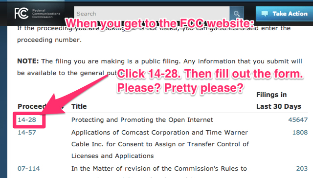 How to contact the FCC with comments regarding net neutrality