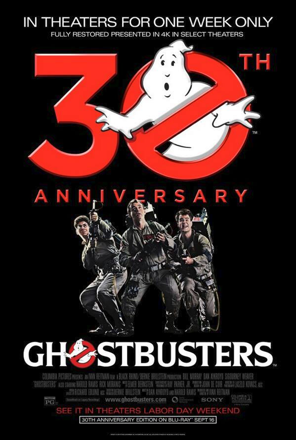 Ghostbusters 30th anniversary release poster 2014