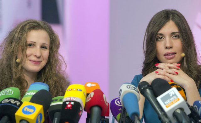Maria Alyokhina and Nadezhda Tolokonnikova