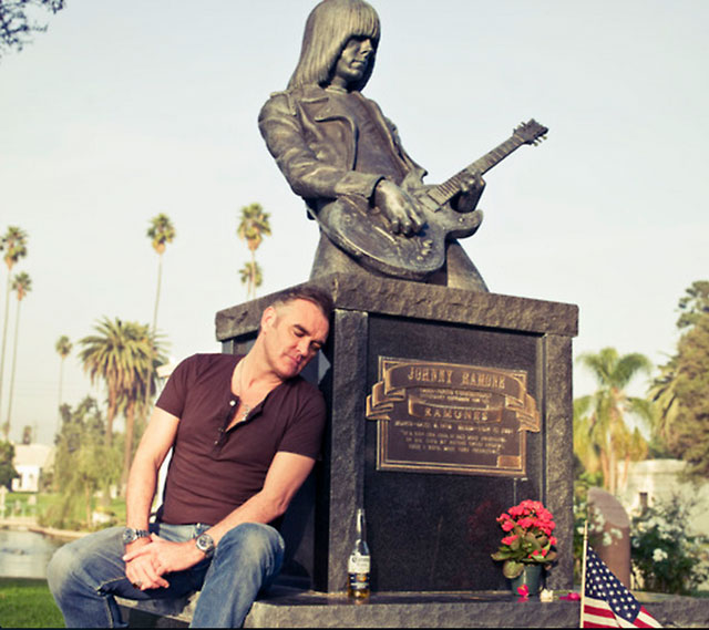 Morrissey with his good friend Johnny Ramone