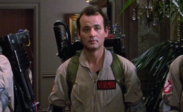 "Bill Murray as Peter Venkman in ""Ghostbusters"""