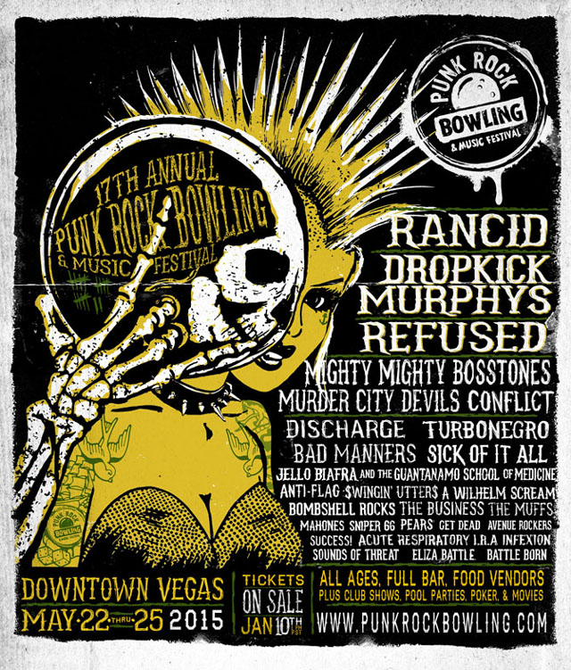 Punk Rock Bowling full lineup 2015