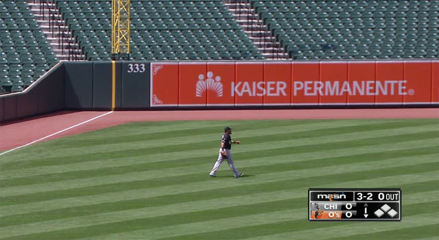 Orioles - White Sox April 29, 2015 at Camden Yards - no fans in attendance