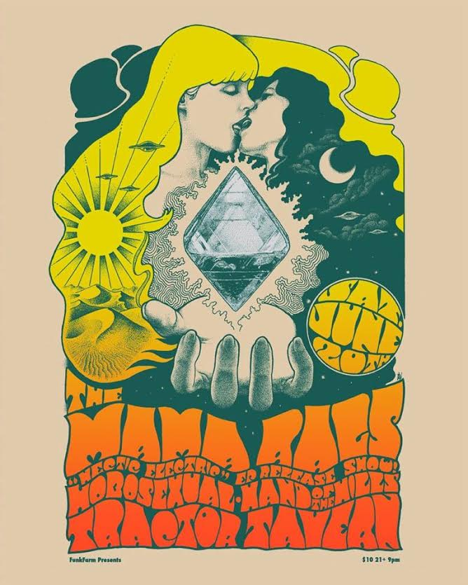 The Mama Rags record release show flyer