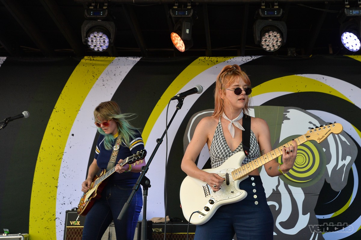 Bleached performing at BugOut SXSW Day Party Day Two on 3.15.17