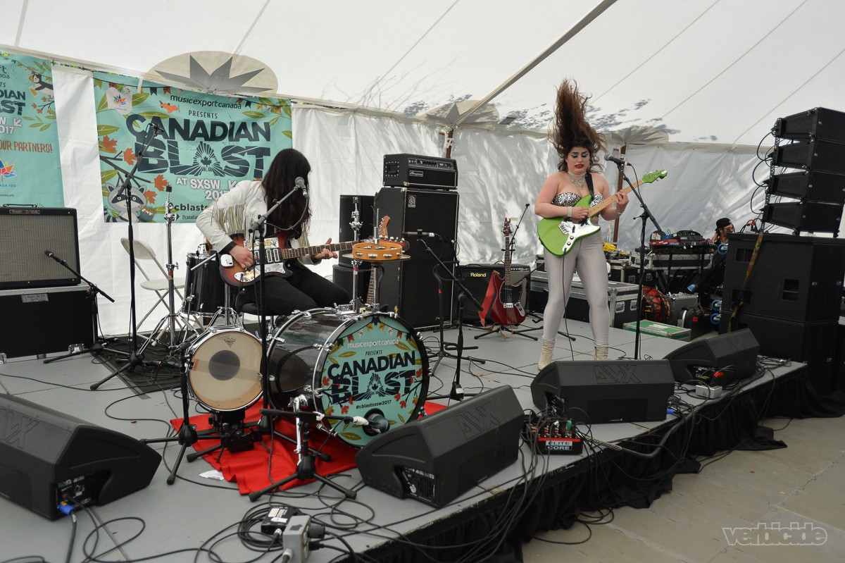 Les Deuxluxes performing at Canadian Blast BBQ on 3.15.17
