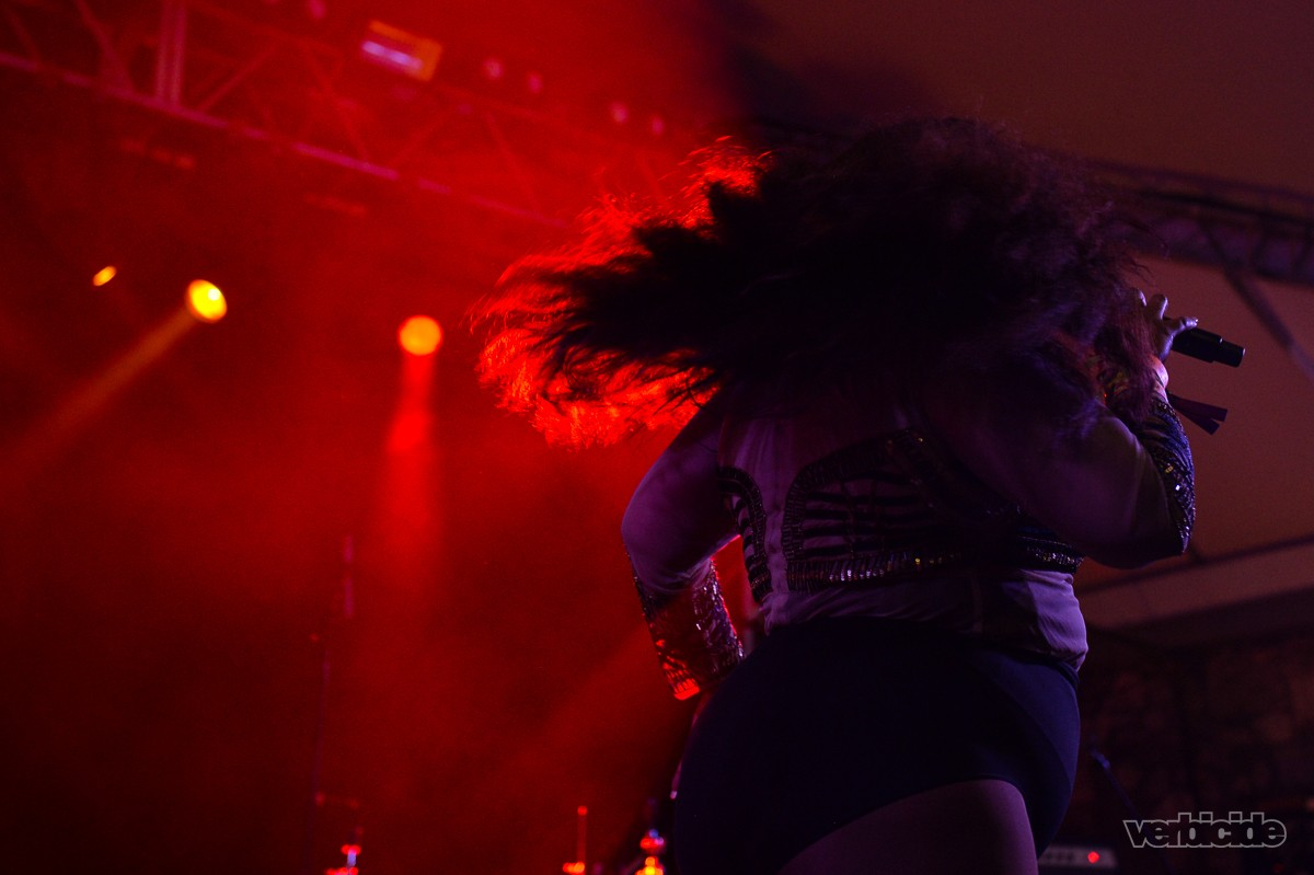 Lizzo performing at the NPR Music SXSW Showcase on 3.15.17