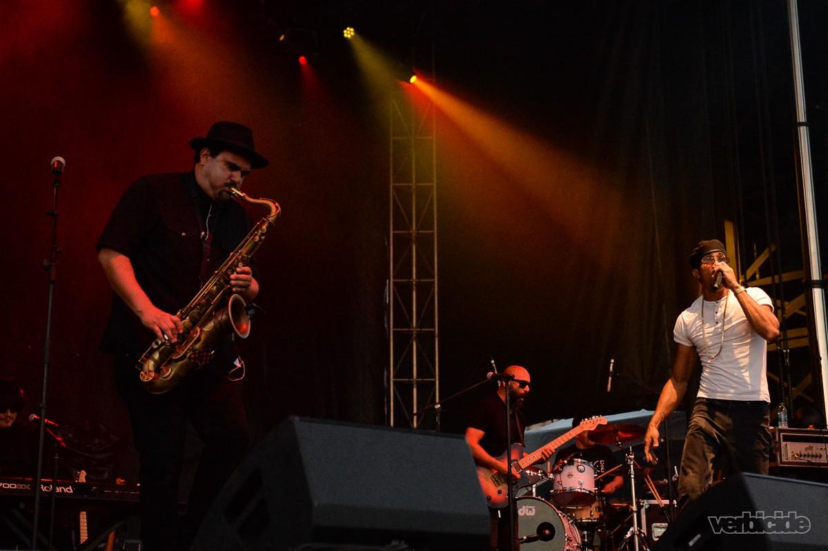 Ozomatli performing at Auditorium Shores on 3.16.17