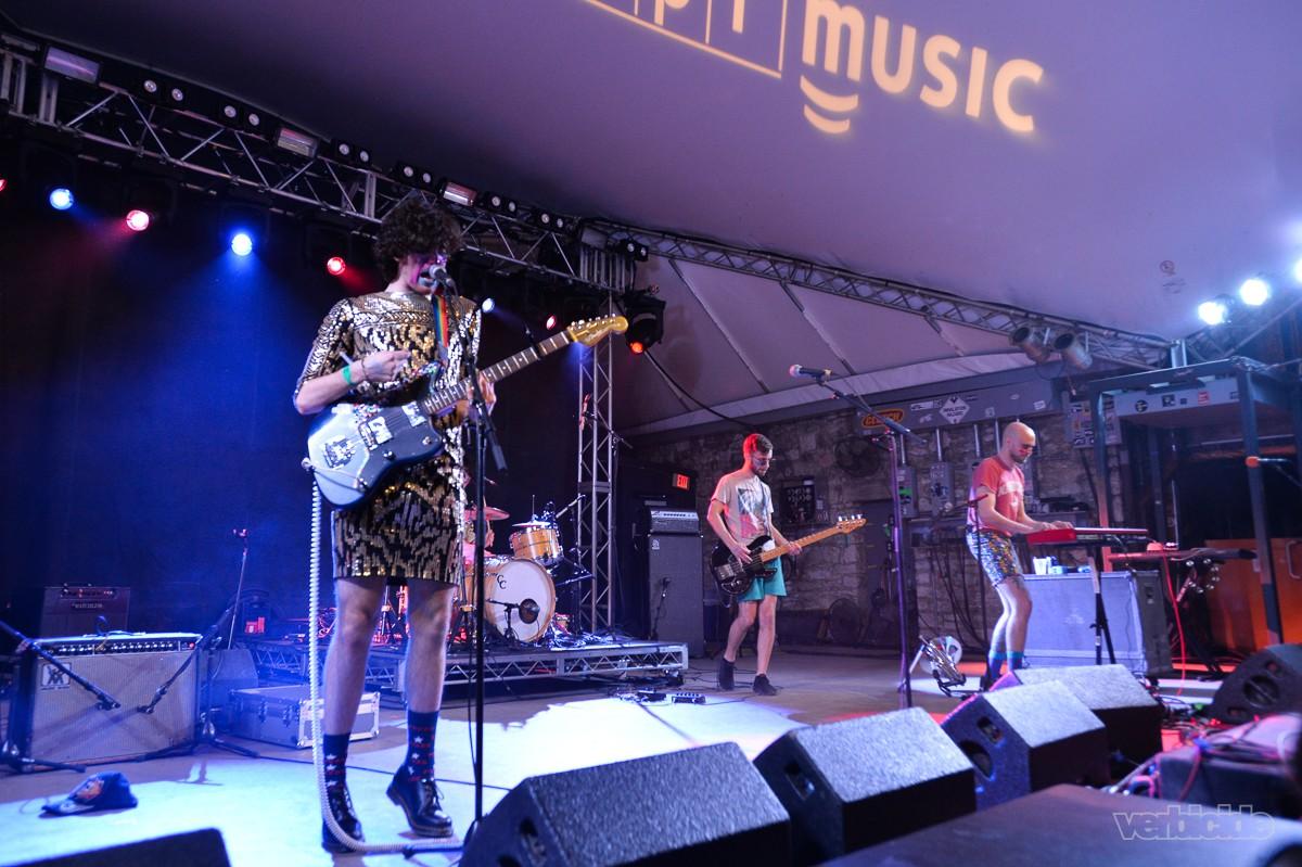PWR BTTM peforming at the NPR Music SXSW Showcase 3.15.17
