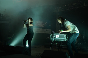 Sylvan Esso performing at the NPR Music SXSW Showcase on 3.15.17