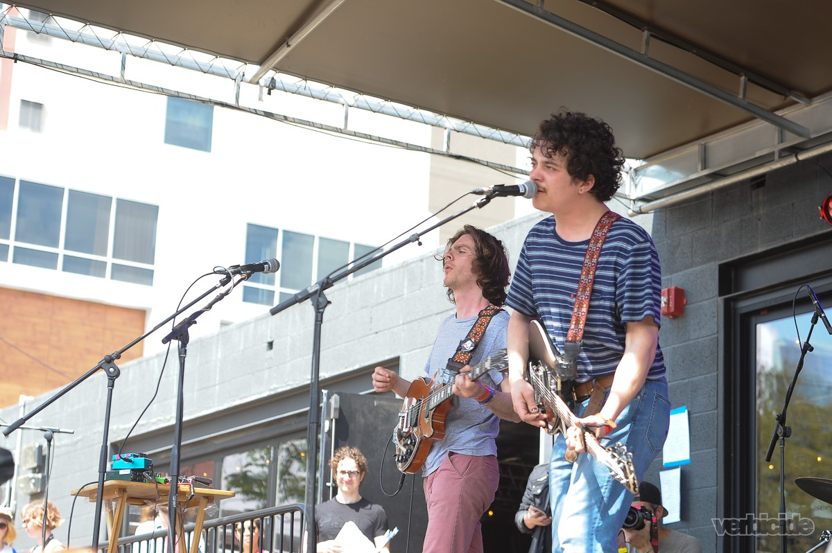 The Districts performing at Rachael Ray's Feedback Party on 3.18.17