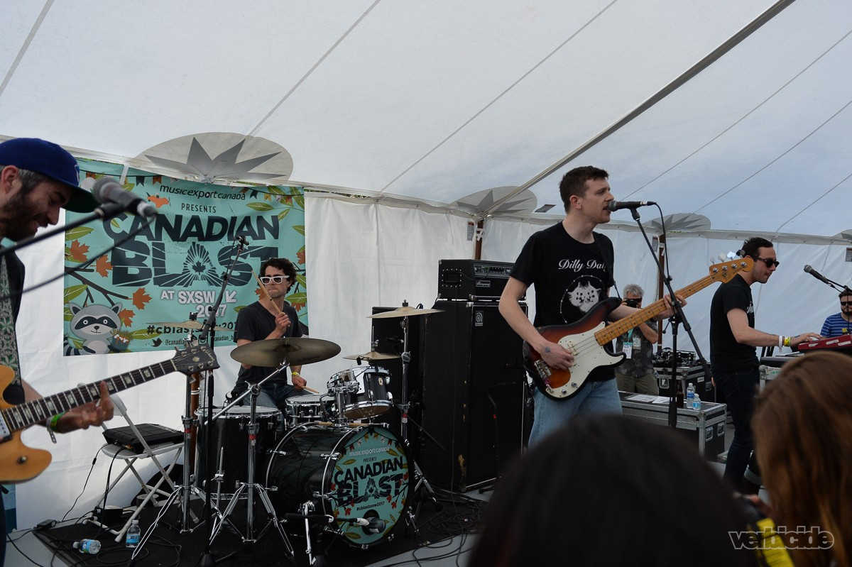 Tokyo Police Club performing at Canadian Blast BBQ on 3.15.17